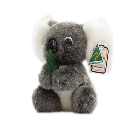 Koala with Gum Leaf 15cm