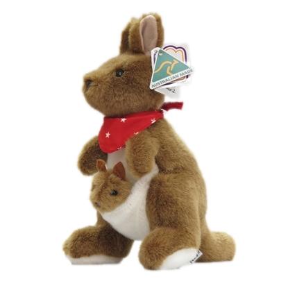 Kangaroo With Scarf 22cm