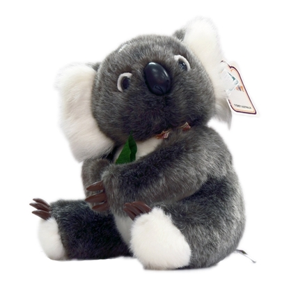 Koala With Gum Leaf 22cm