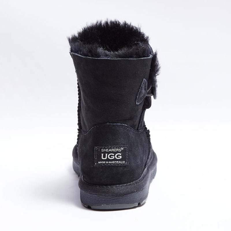 Shearer's Ugg Mini Single Button Black