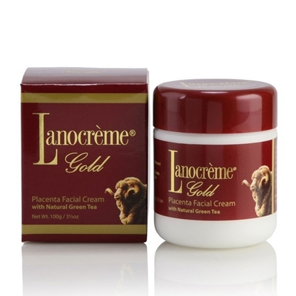 Lanocreme Placenta Facial Cream with Natural Green Tea 100g